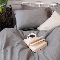 Комплект двуспальный из вареного хлопка Grey