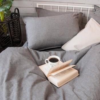 Комплект 1,5-спальный из вареного хлопка Gray