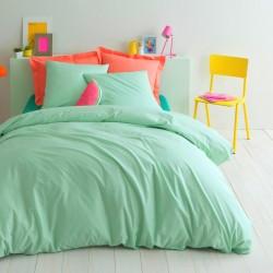 Комплект 1,5-спальный из сатина мятного цвета