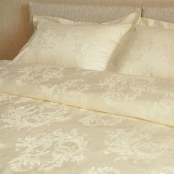 Комплект 1,5-спальный из сатина-жаккарда Лоза шампань