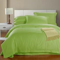 Комплект 1,5-спальный из зеленого сатина