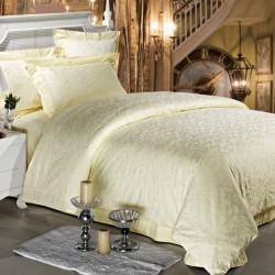 Комплект 1,5-спальный из сатина-жаккарда шампань