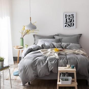 Комплект двуспальный  из сатина Stripe Grey